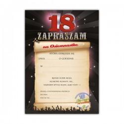 Zaproszenie Na 18 Urodziny Wzór 2