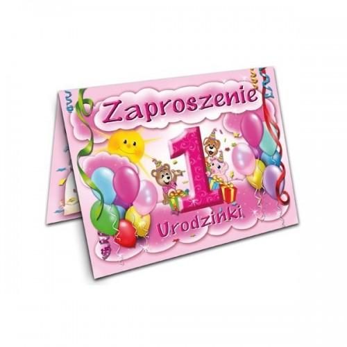 Zaproszenie Na Urodziny Roczek Dziewczynka