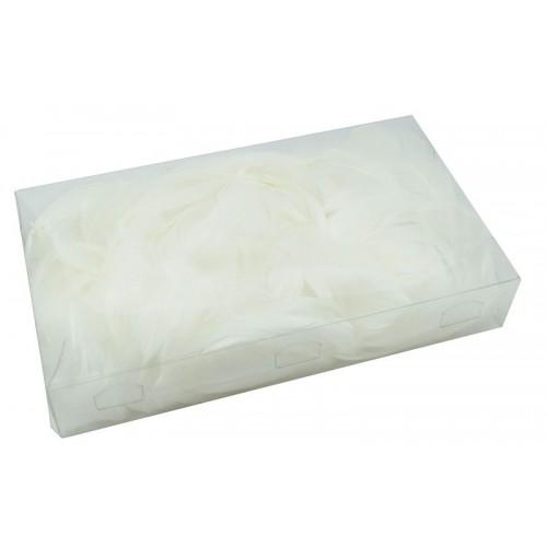 Białe Piórka Dekoracyjne Blister 50 Gram